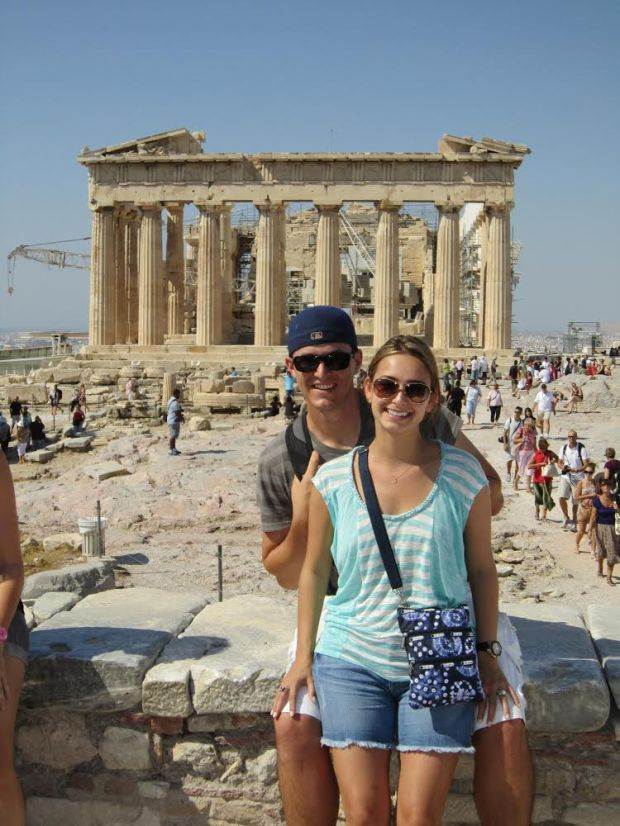 Derek and his wife Sharonna in Greece
